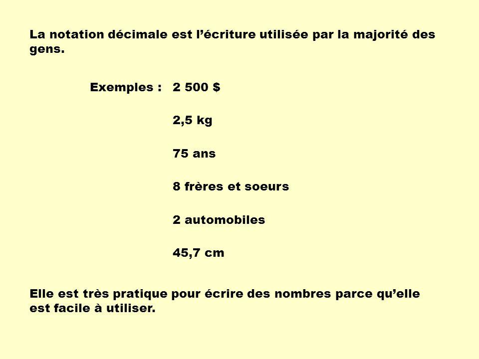 La notation décimale est l'écriture utilisée par la majorité des gens.