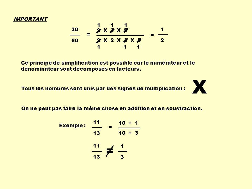 IMPORTANT 1. 1. 1. 2 X 3 X 5. 2 X 2 X 3 X 5. 30. 60. = 1. 2. =