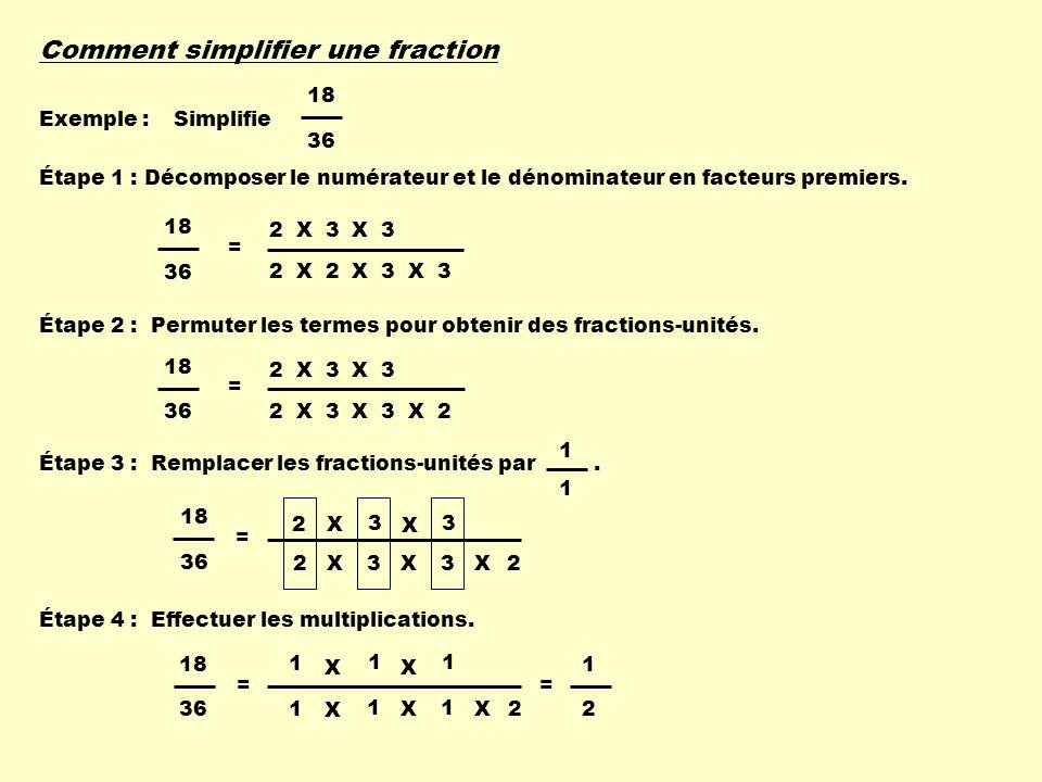 Comment simplifier une fraction
