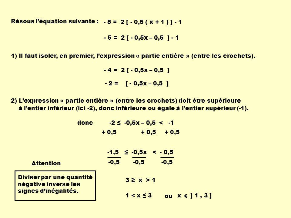 Résous l'équation suivante :