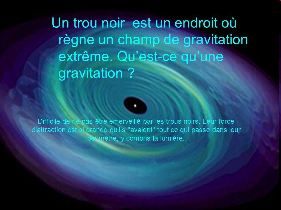 Un trou noir est un endroit où règne un champ de gravitation extrême