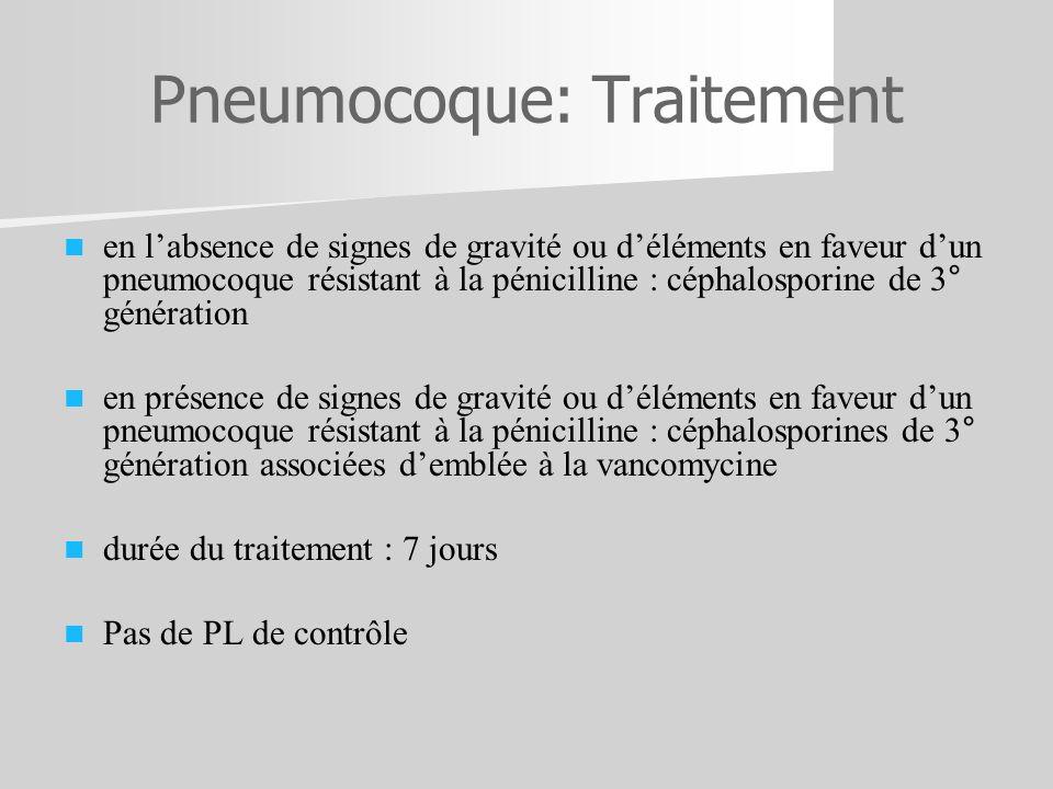 Pneumocoque: Traitement