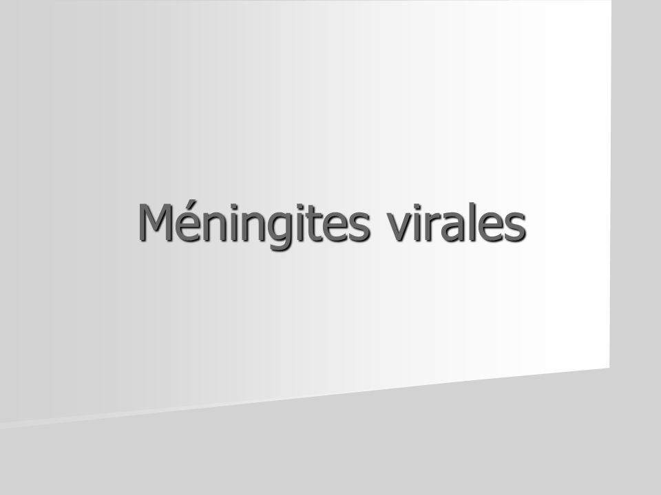 Méningites virales