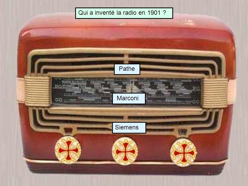 Qui a inventé la radio en 1901