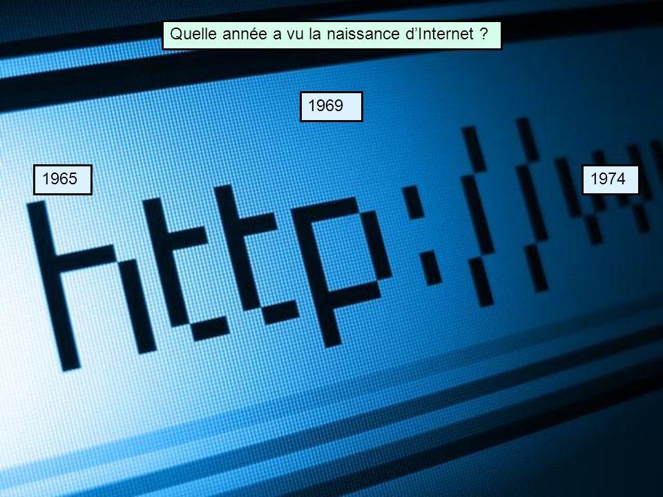 Quelle année a vu la naissance d'Internet