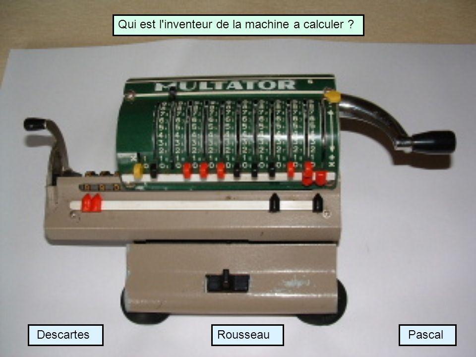 Qui est l inventeur de la machine a calculer