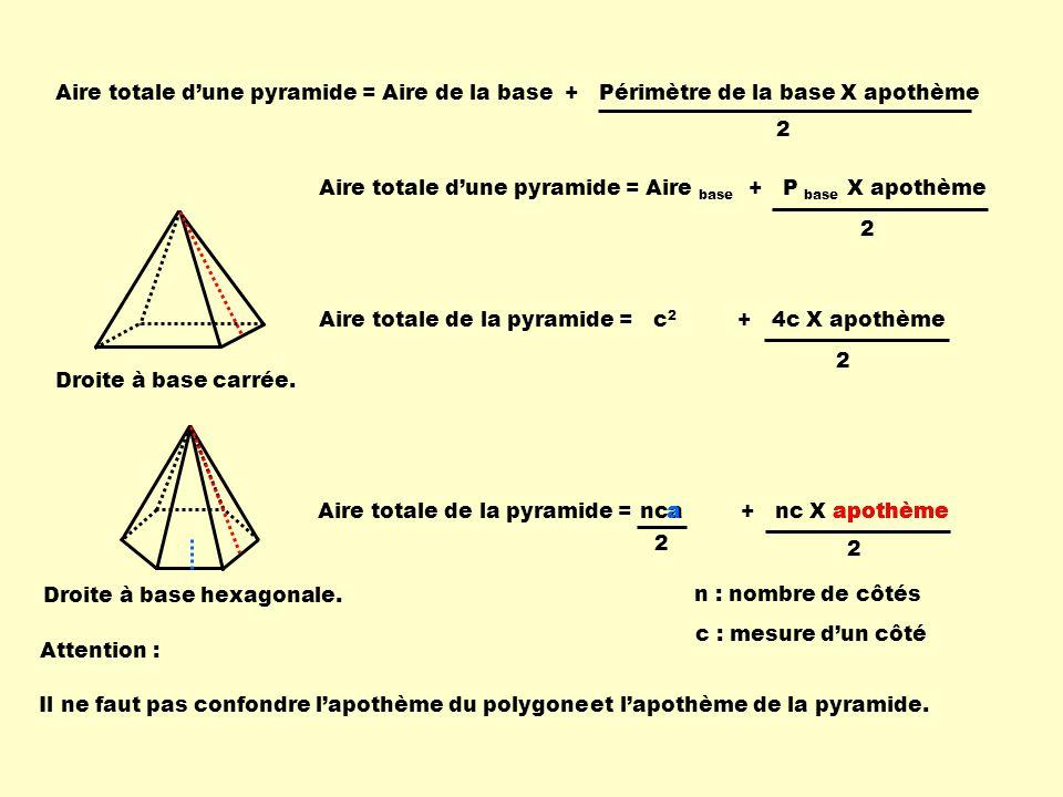 Droite à base hexagonale.