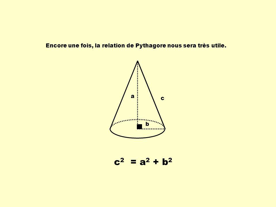 Encore une fois, la relation de Pythagore nous sera très utile.