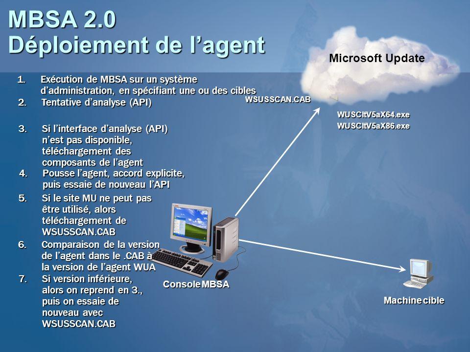 MBSA 2.0 Déploiement de l'agent