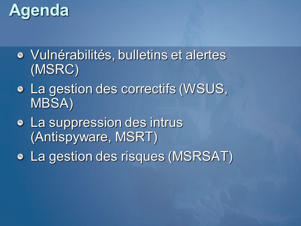 Agenda Vulnérabilités, bulletins et alertes (MSRC)