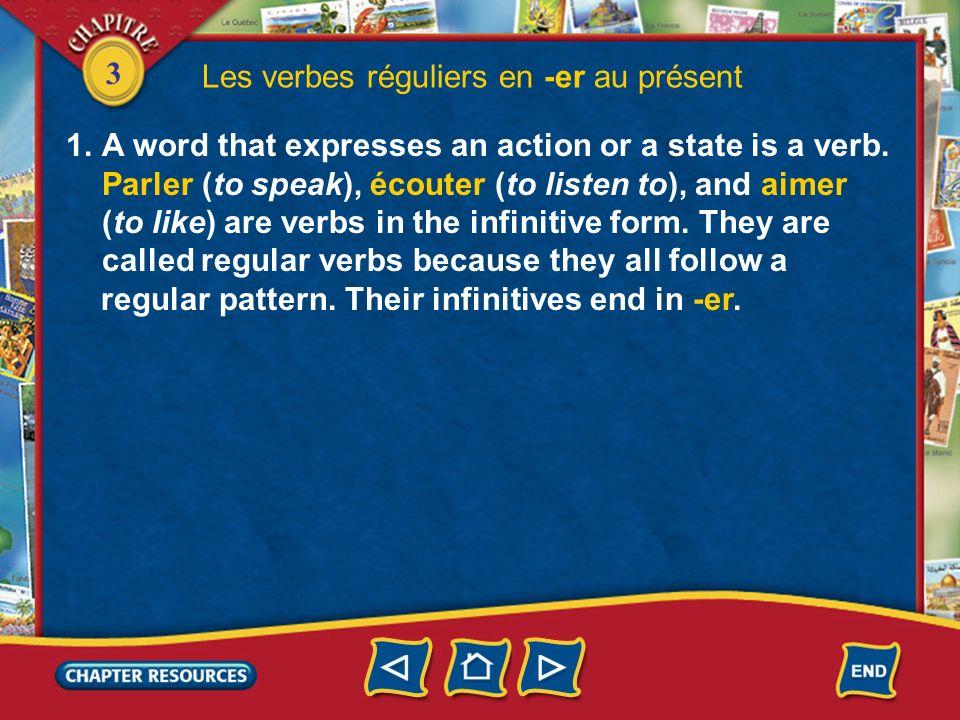 Les verbes réguliers en -er au présent