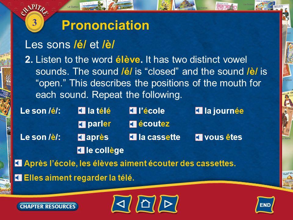 Prononciation Les sons /é/ et /è/