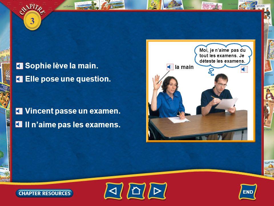 Vincent passe un examen.