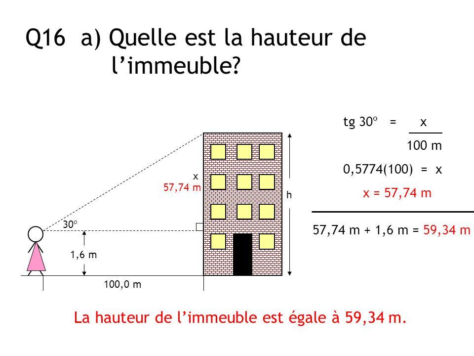 La hauteur de l'immeuble est égale à 59,34 m.