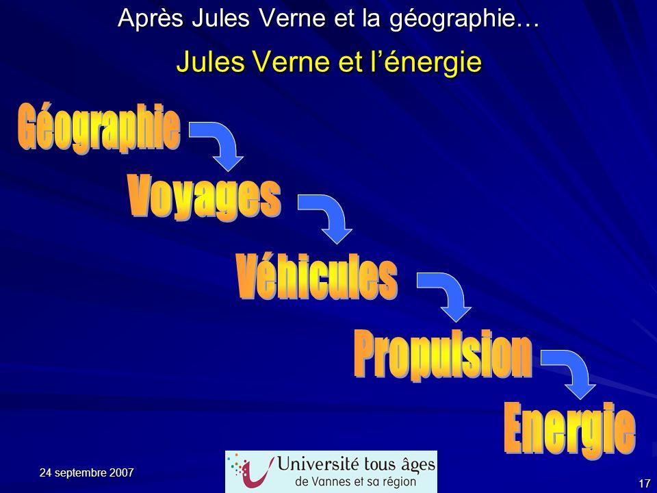 Après Jules Verne et la géographie… Jules Verne et l'énergie