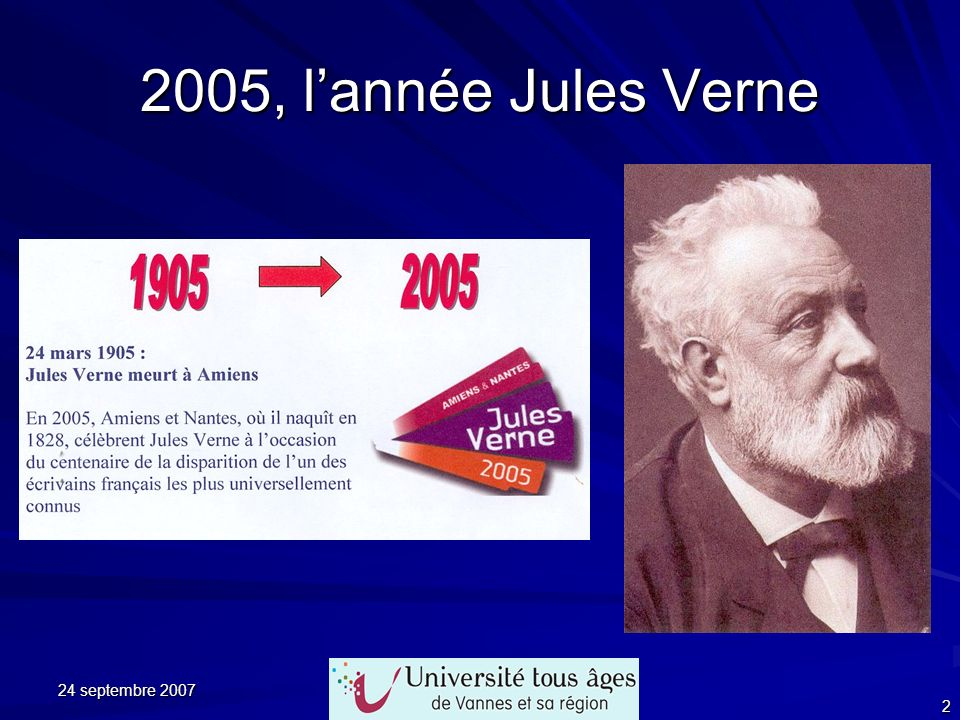 2005, l'année Jules Verne 24 septembre 2007