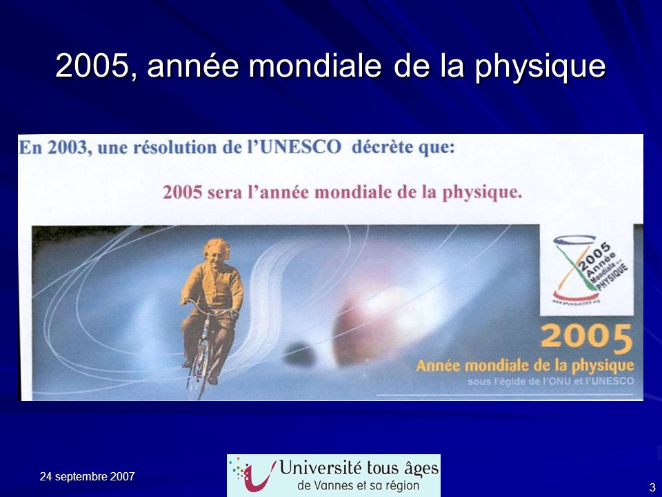 2005, année mondiale de la physique