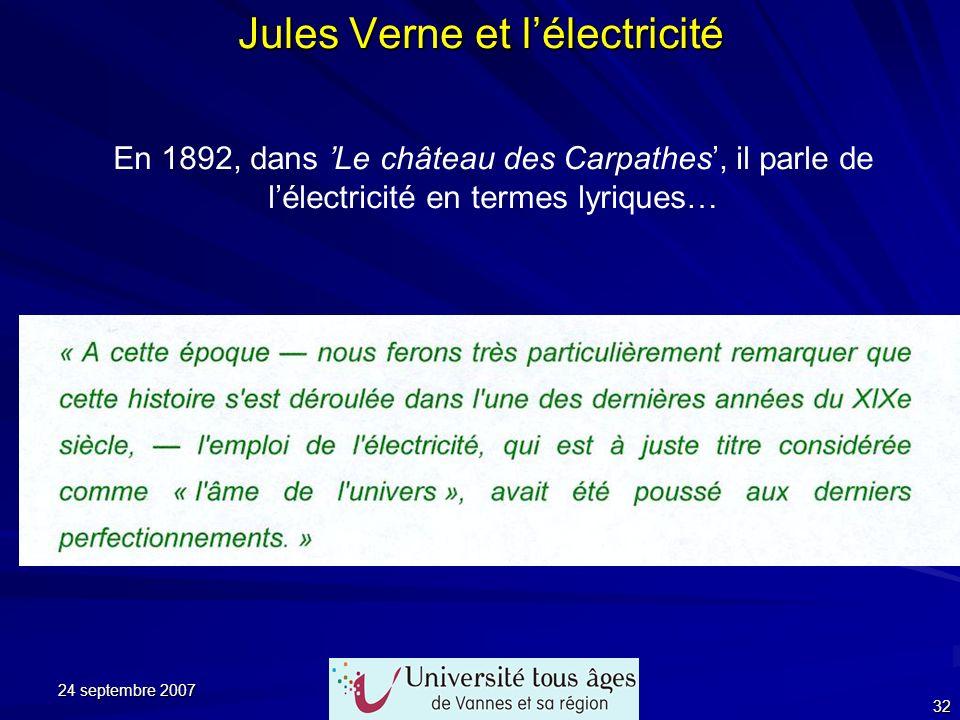 Jules Verne et l'électricité