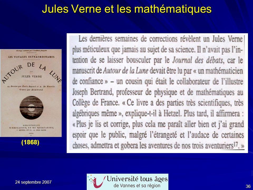 Jules Verne et les mathématiques