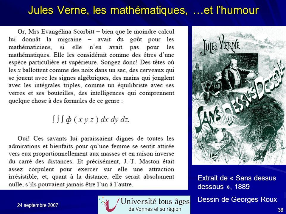 Jules Verne, les mathématiques, …et l'humour