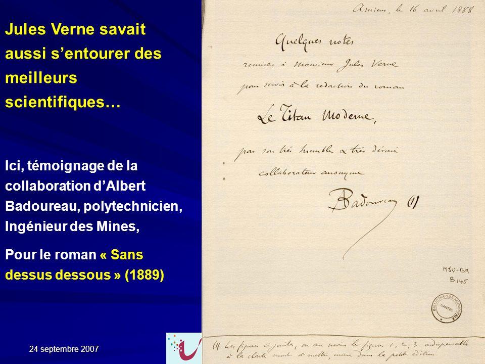 Jules Verne savait aussi s'entourer des meilleurs scientifiques…