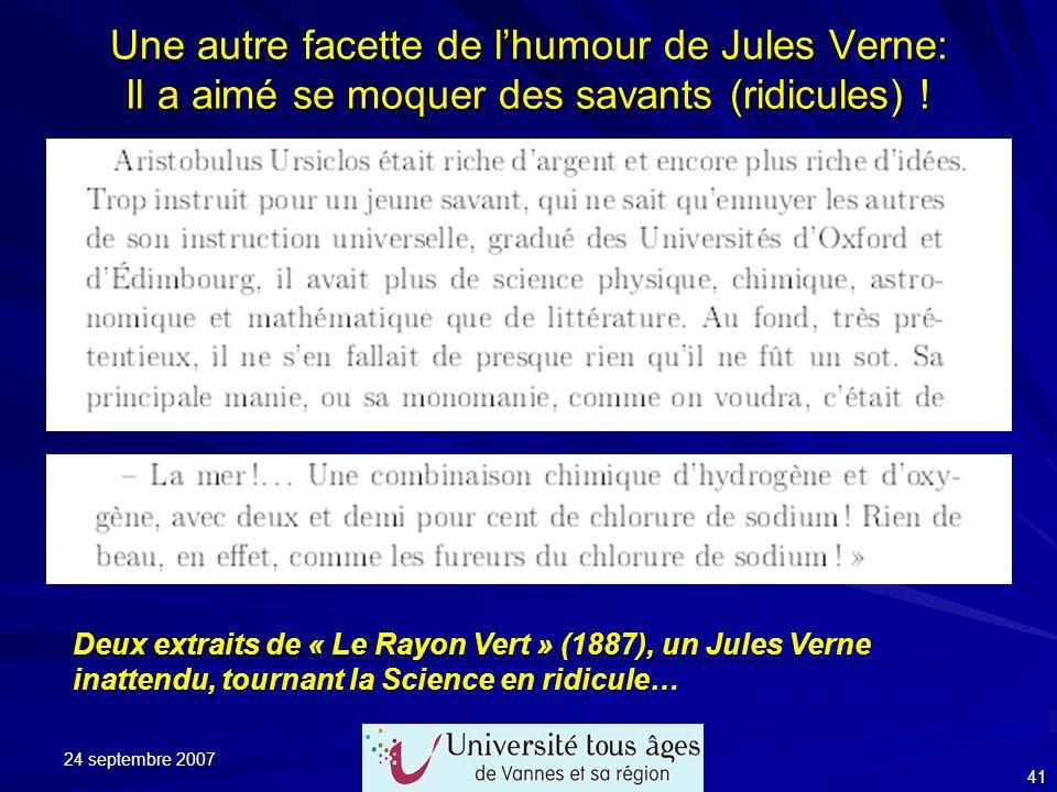 Une autre facette de l'humour de Jules Verne: Il a aimé se moquer des savants (ridicules) !