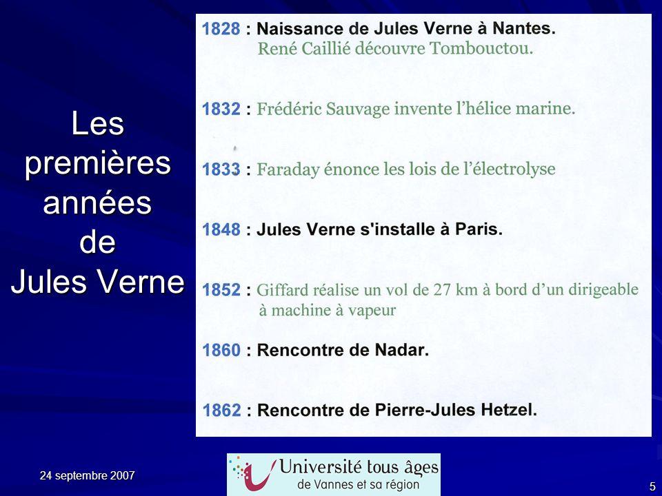 Les premières années de Jules Verne