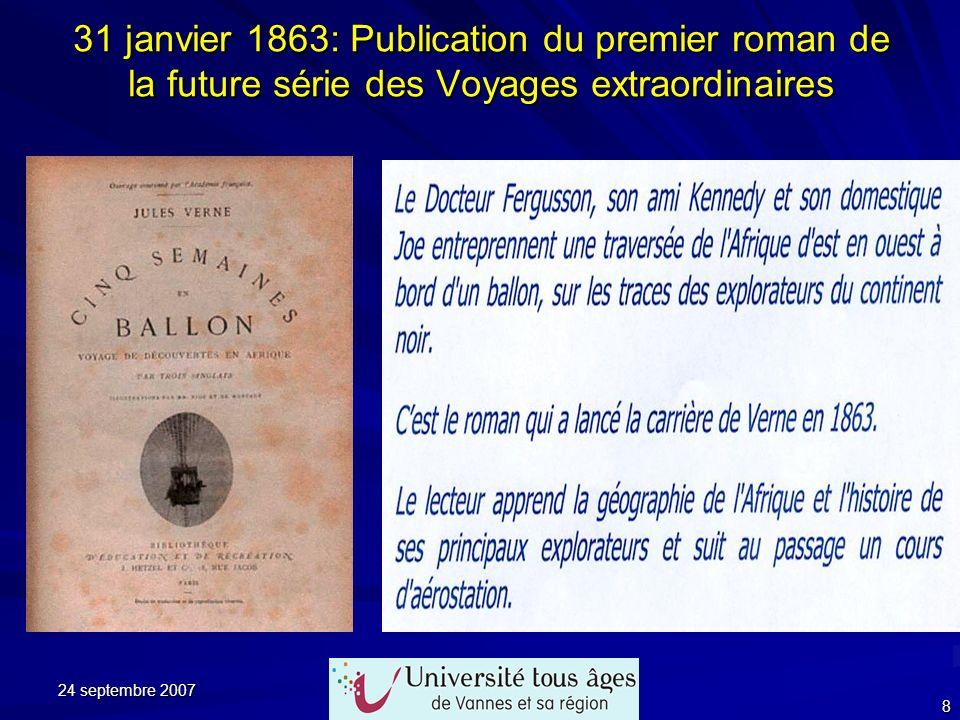 31 janvier 1863: Publication du premier roman de la future série des Voyages extraordinaires