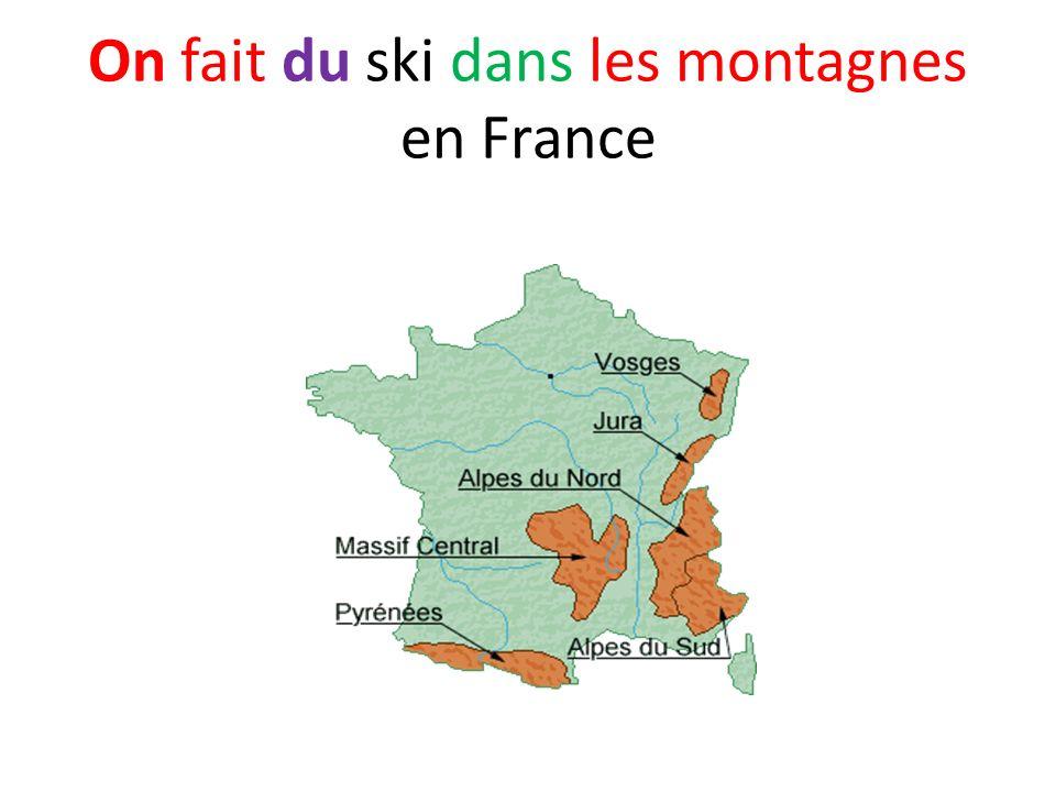 On fait du ski dans les montagnes en France