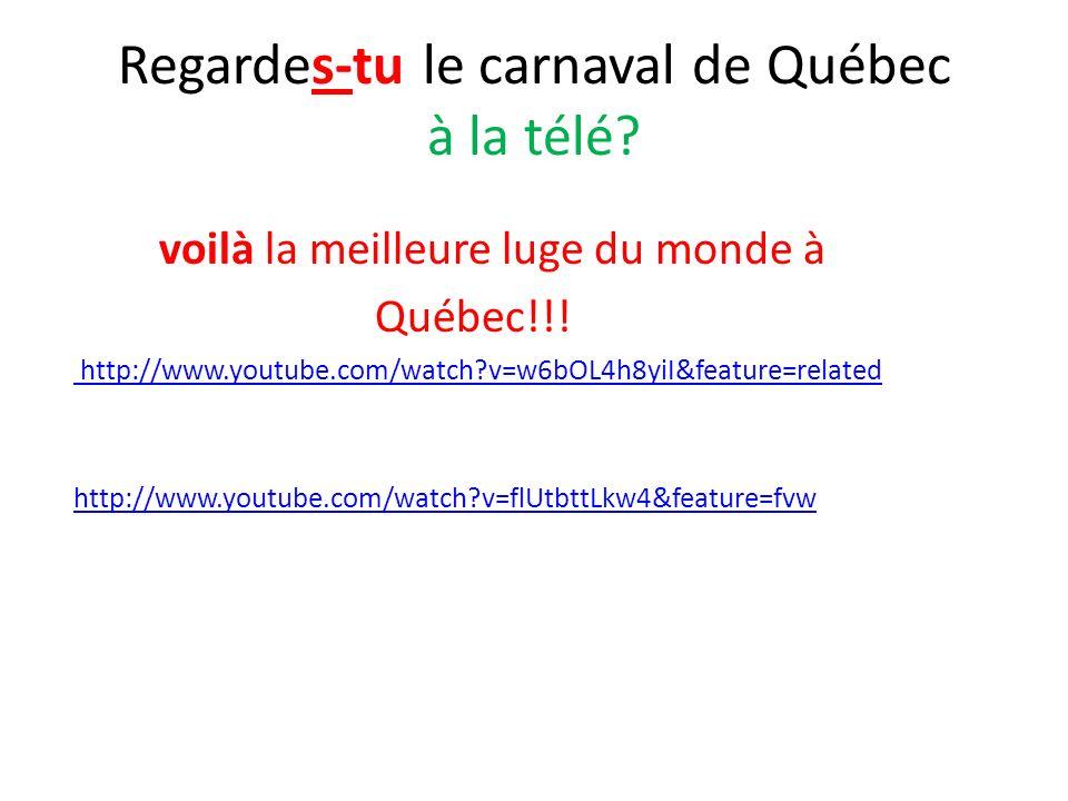 Regardes-tu le carnaval de Québec à la télé