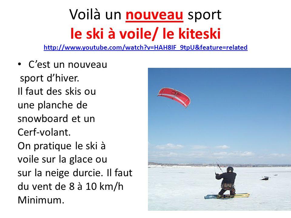 Voilà un nouveau sport le ski à voile/ le kiteski http://www. youtube