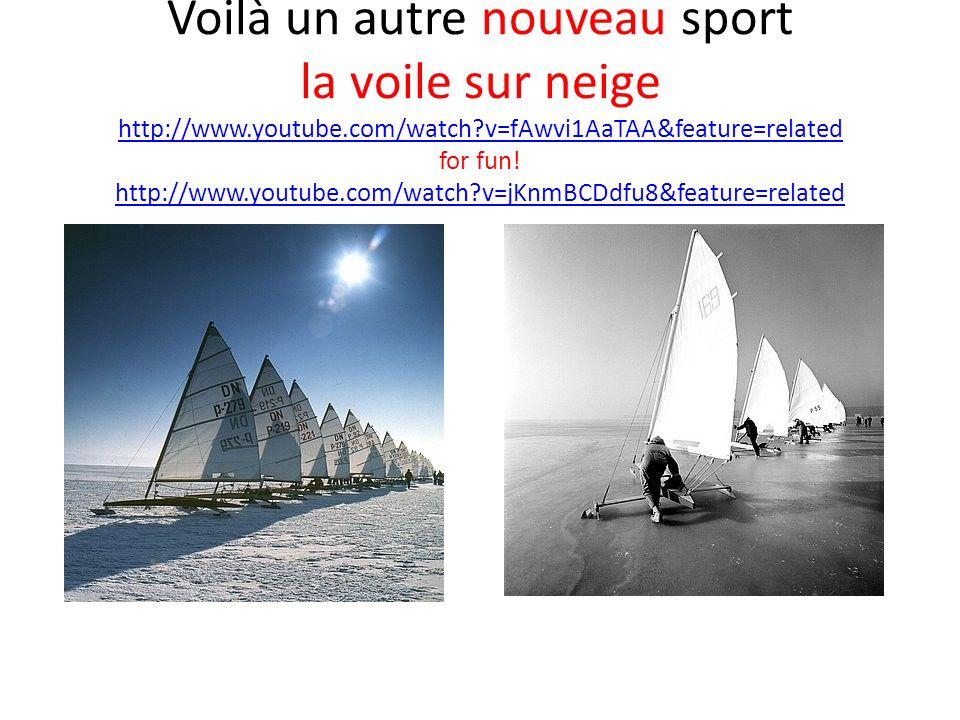 Voilà un autre nouveau sport la voile sur neige http://www. youtube
