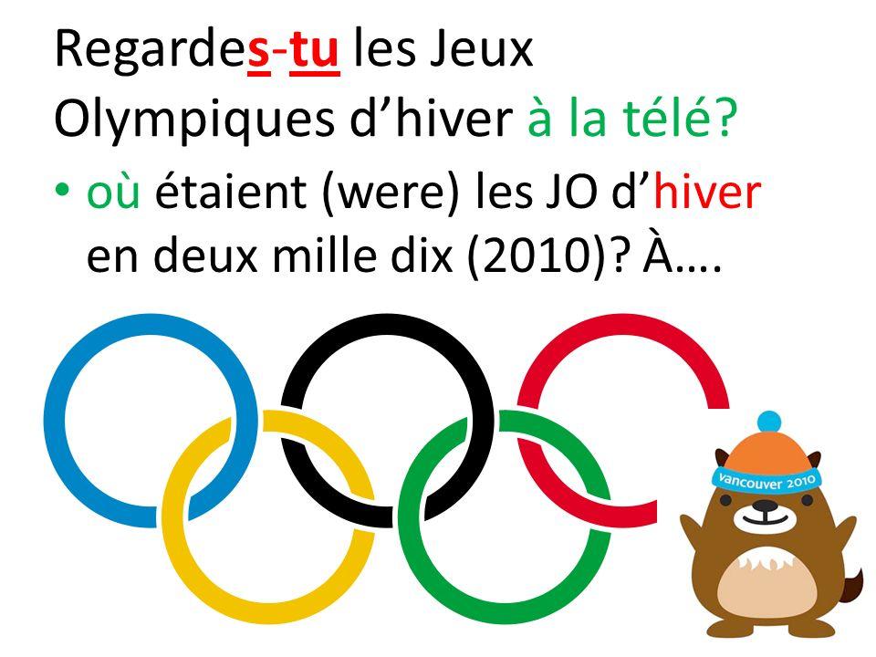 Regardes-tu les Jeux Olympiques d'hiver à la télé