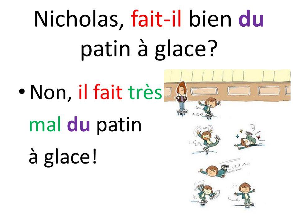 Nicholas, fait-il bien du patin à glace