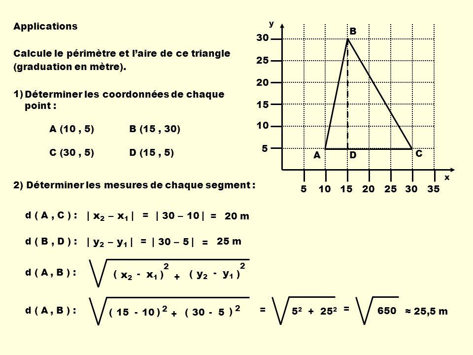 | x2 – x1 | | 30 – 10 | | y2 – y1 | | 30 – 5 | x1 x2 y1 y2