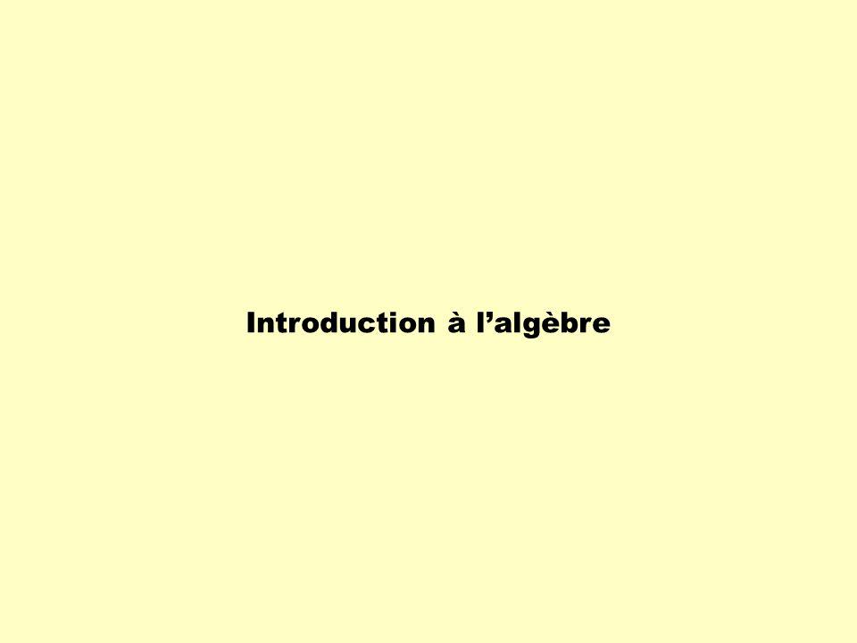 Introduction à l'algèbre