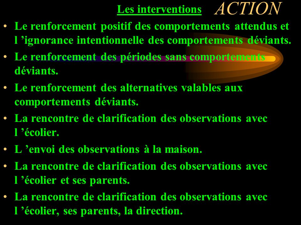 ACTION Les interventions