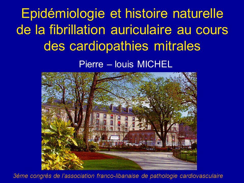 Epidémiologie et histoire naturelle de la fibrillation auriculaire au cours des cardiopathies mitrales