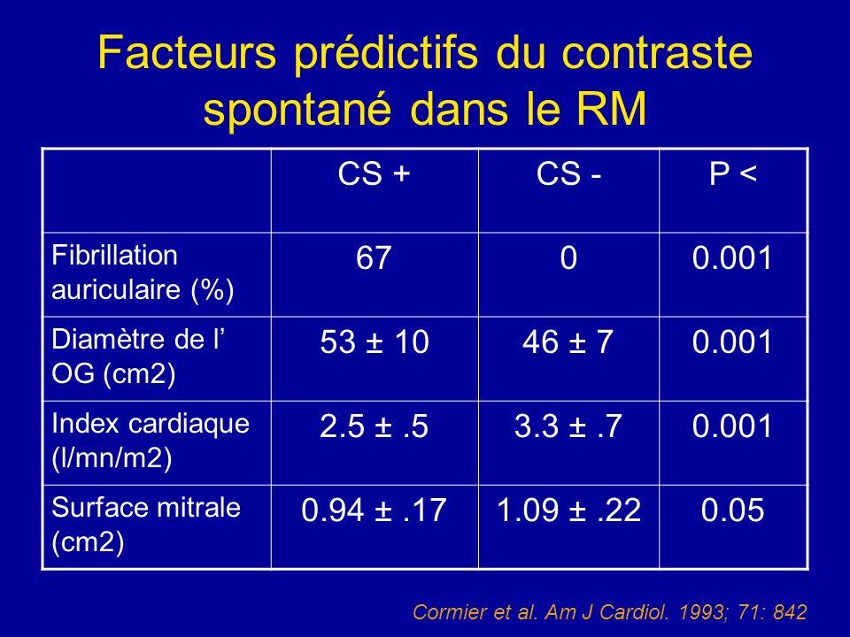Facteurs prédictifs du contraste spontané dans le RM