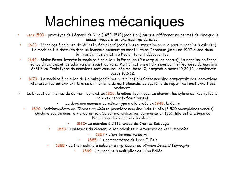 Machines mécaniques