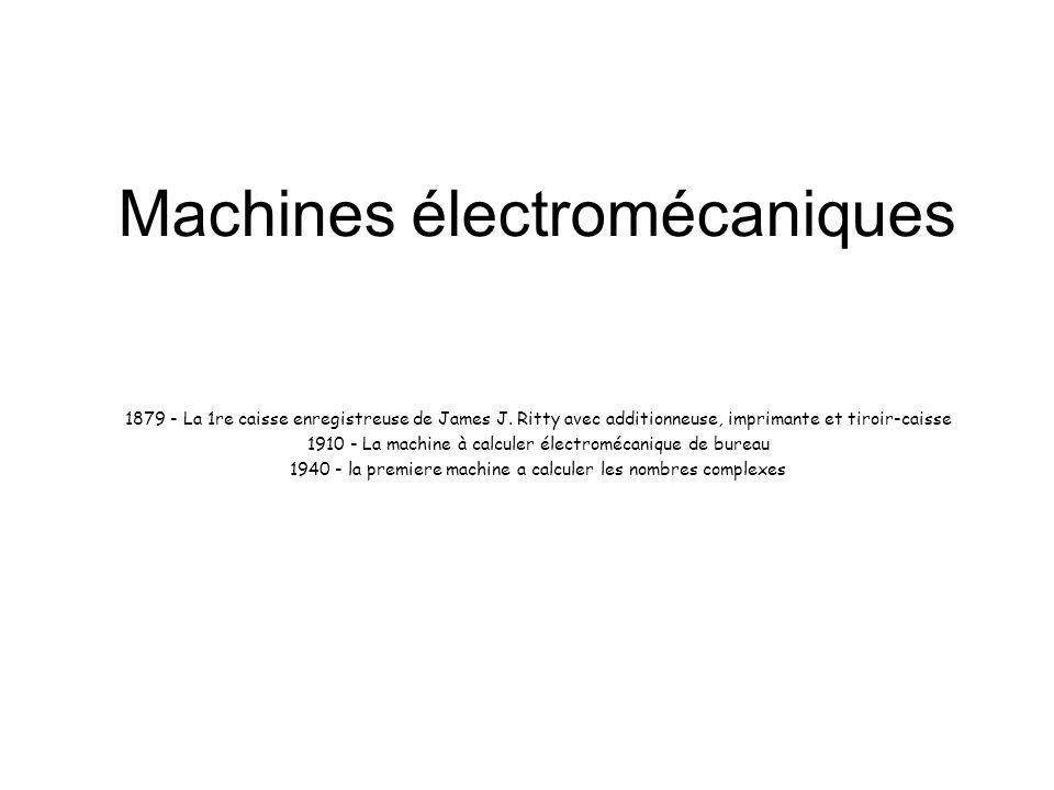 Machines électromécaniques