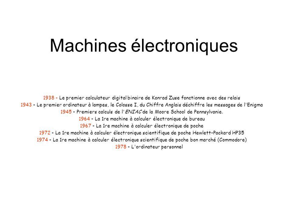 Machines électroniques