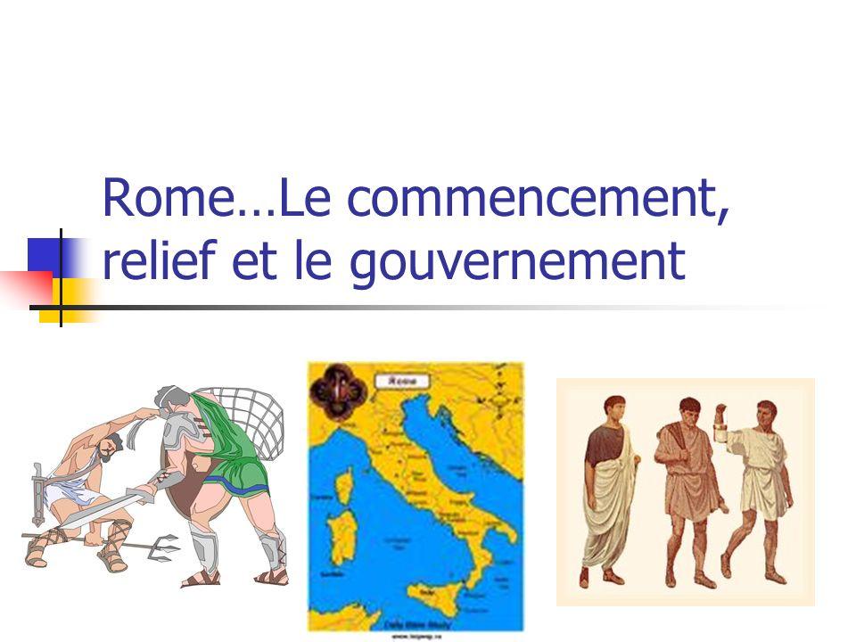 Rome…Le commencement, relief et le gouvernement