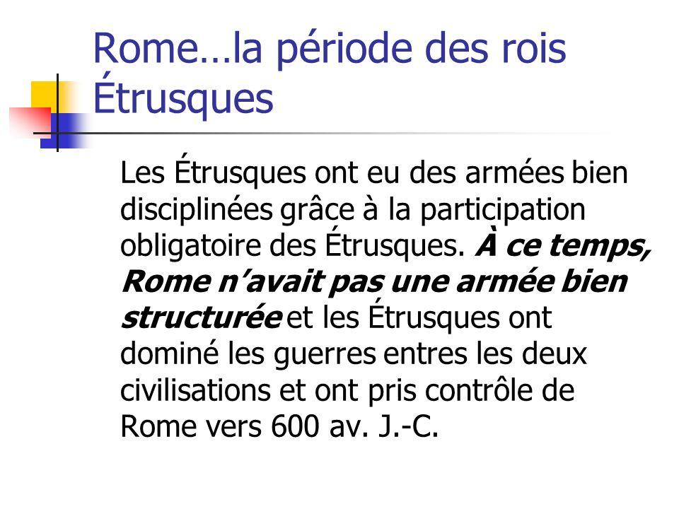 Rome…la période des rois Étrusques