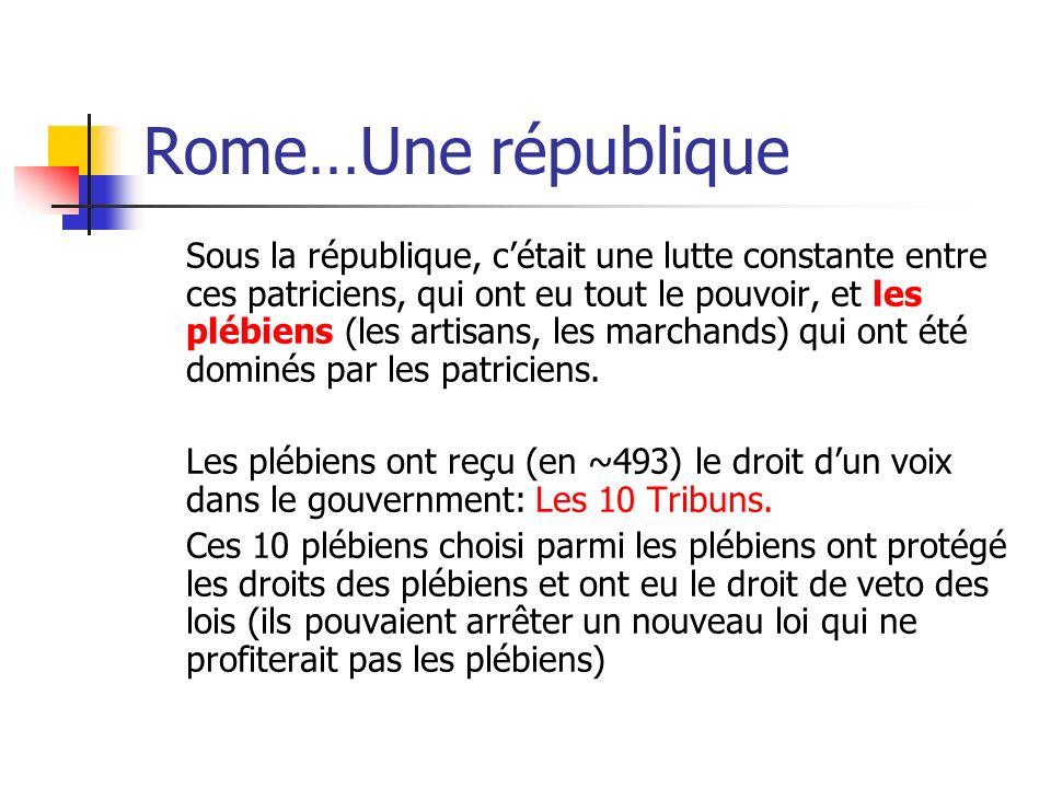 Rome…Une république