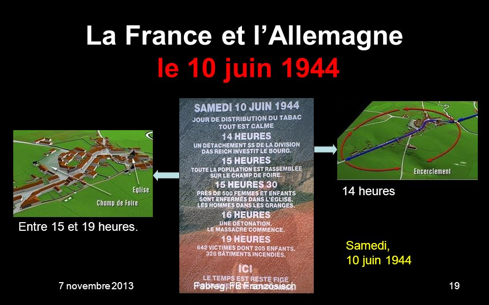 La France et l'Allemagne le 10 juin 1944