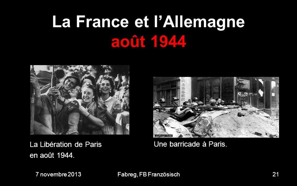 La France et l'Allemagne août 1944