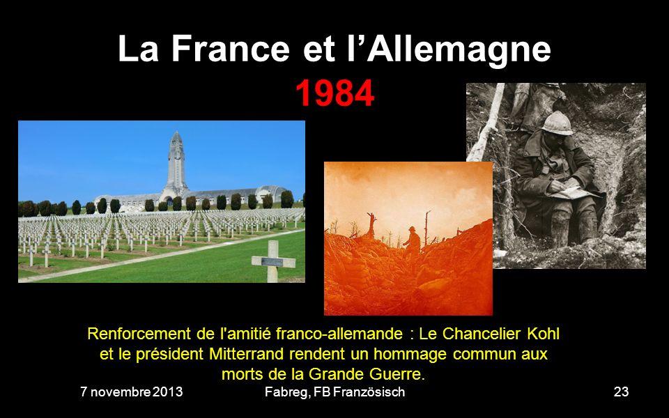 La France et l'Allemagne 1984
