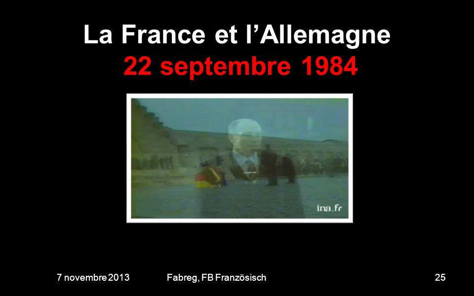 La France et l'Allemagne 22 septembre 1984