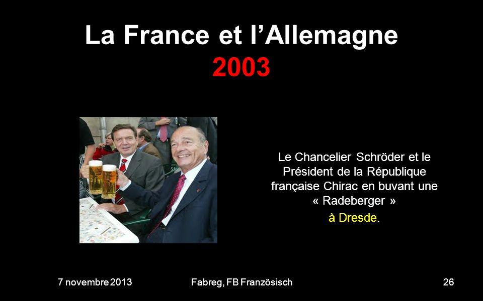 La France et l'Allemagne 2003